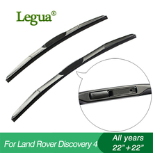 1 set Wiper blades for Land Rover DISCOVERY 4,22+22,car wiper,3 Section Rubber, windscreen, Car accessory 1 set wiper blades for land rover discovery 3 2008 22 22 car wiper 3 section rubber windscreen car accessory