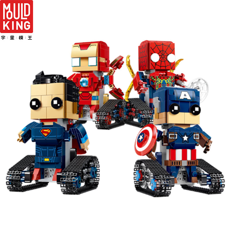 Avengers Spiderman iron Man Superman Captain America RC Action Figure Building Blocks Legoing Movie Super Heroes Toys Bricks