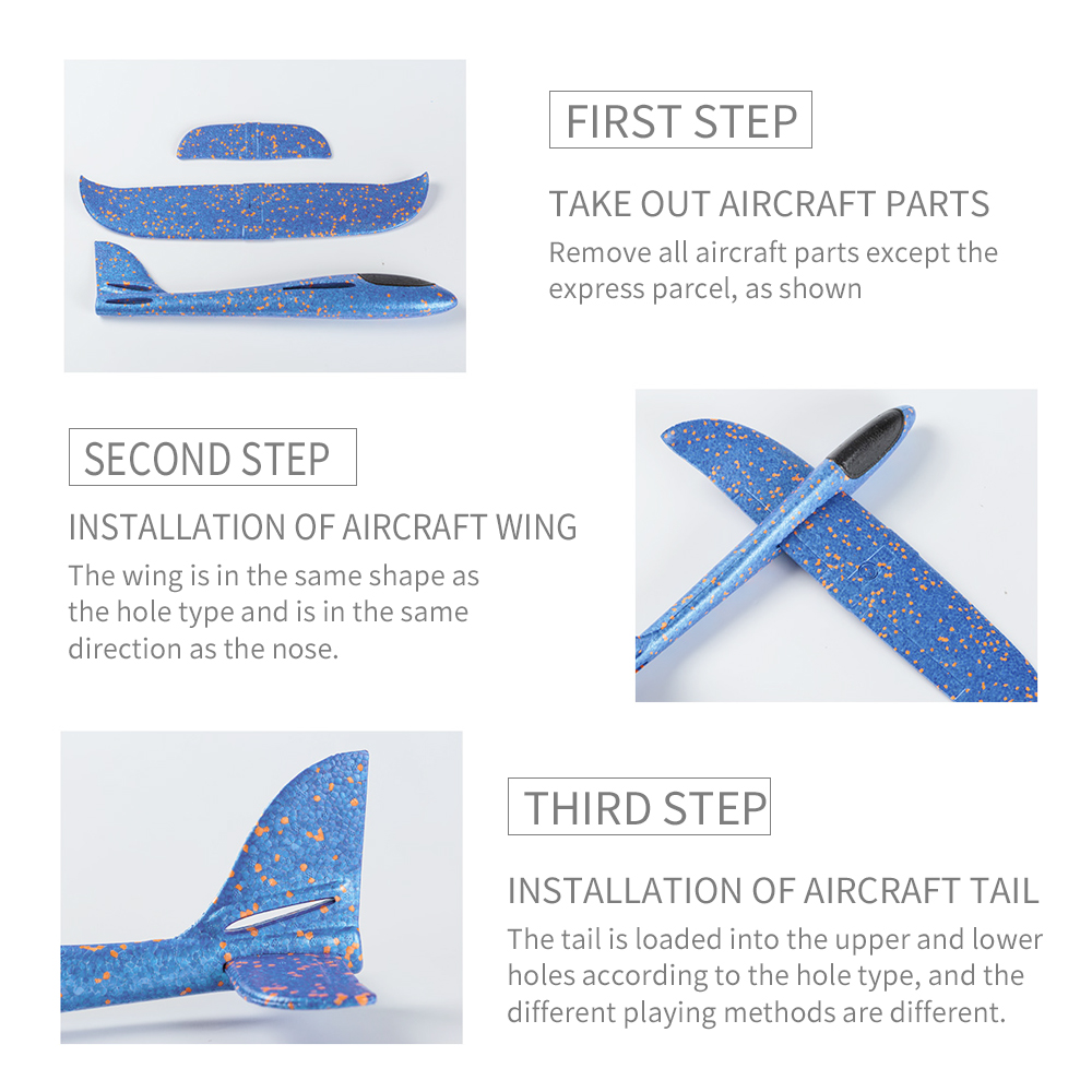 Image 4 - 4pcs Airplane Hand Throwing Foam Plane Model Children Outdoor Flaying Glider Toys EPP Resistant Breakout Aircraft for kids-in RC Airplanes from Toys & Hobbies
