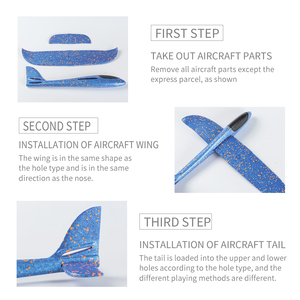Image 4 - 4pcs Airplane Hand Throwing Foam Plane Model Children Outdoor Flaying Glider Toys EPP Resistant Breakout Aircraft for kids