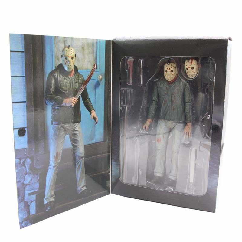 Freddy VS Jason sexta feira 13TH Part3 3D Capítulo 18 centímetros Boneca Dos Desenhos Animados Modelo de Brinquedo Figura de Ação DO PVC