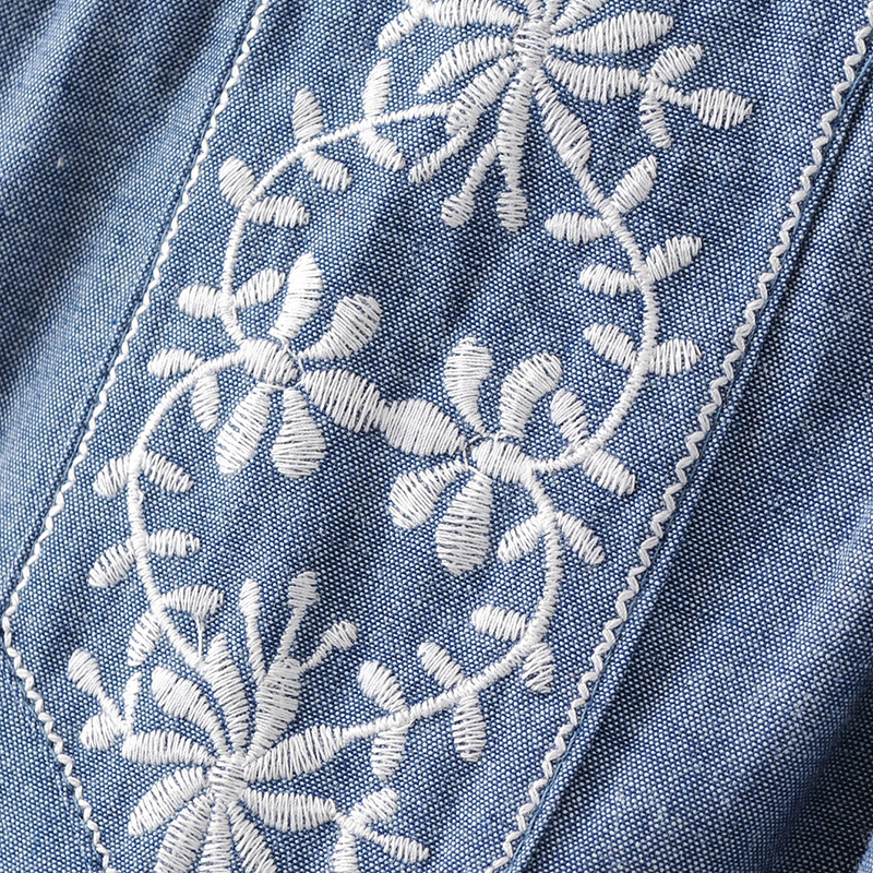 HTB1SNYfPVXXXXbXXVXXq6xXFXXXl - Women elegant embroidery sleeveless denim shirts back
