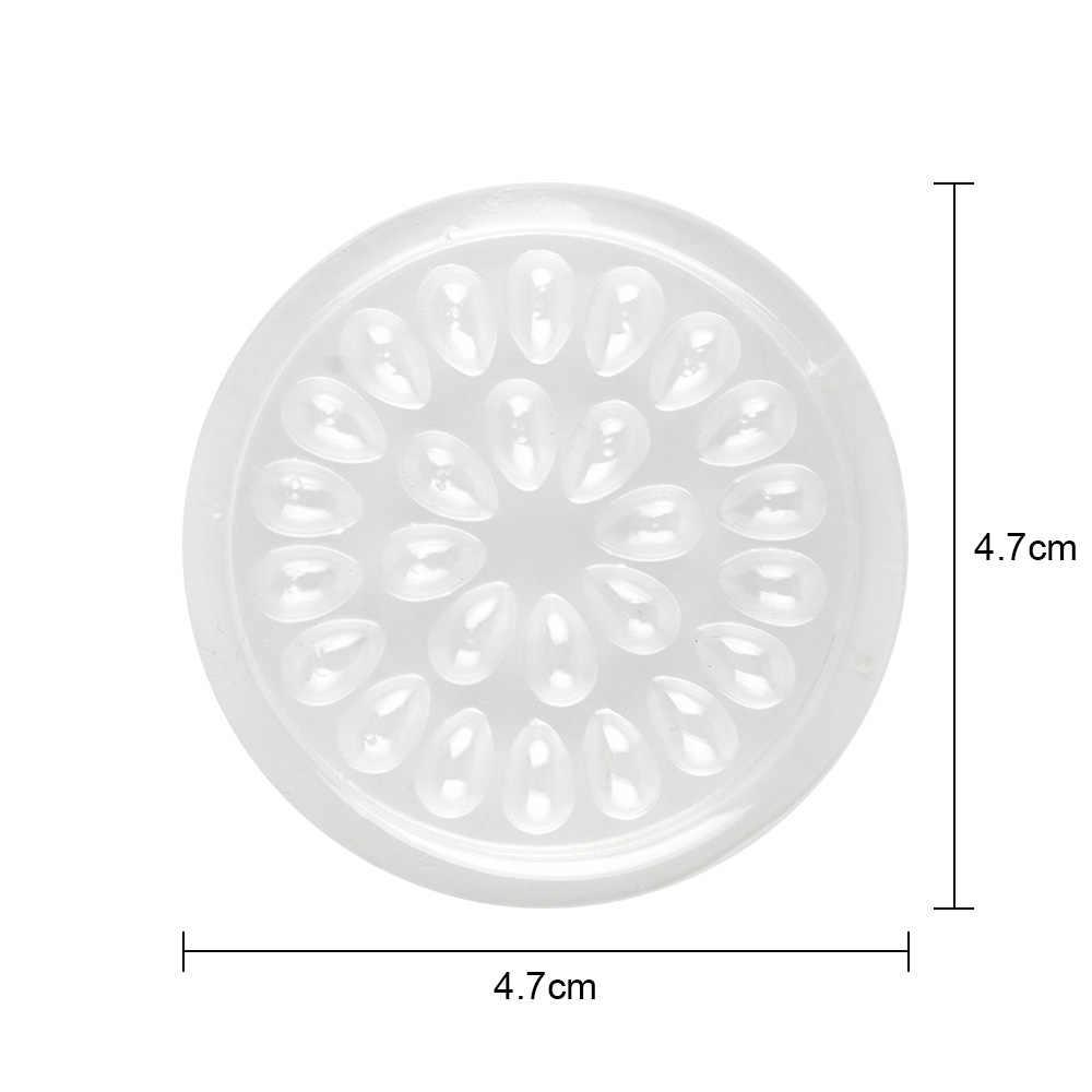 50pcs חד פעמי פלסטיק דבק מחזיק אטם פרח צורת עבור ריסים הארכת דבק מזרן כלים 4.7cm איפור כלי