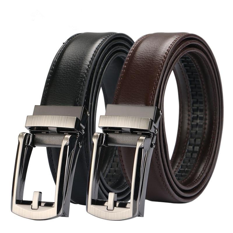 2018 New Good mens belt lujo de alta calidad de vaca cuero genuino - Accesorios para la ropa