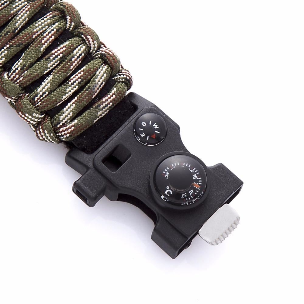 新的户外生存手表手链多功能防水50M手表男士女士露营远足军事战术露营(10)