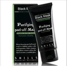 6pcs/lot Shills Black mask Tearing style Deep Purifying peel-off face mask Acne remover blackheads-eliminating black masks 50g