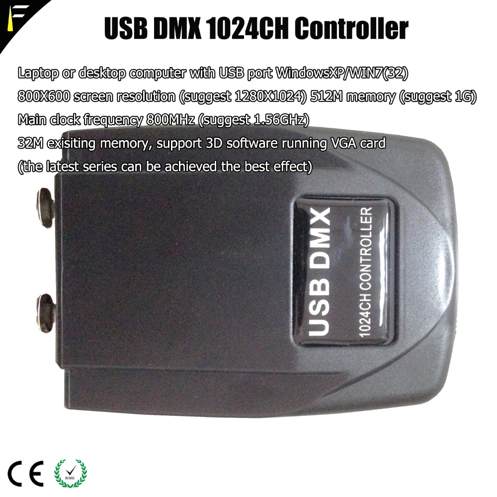 Professional Light Jockey USB Transfer DMX 512 Interface PC Controller DMX  1024 Console Light Fixture Build Martin Lightjockey