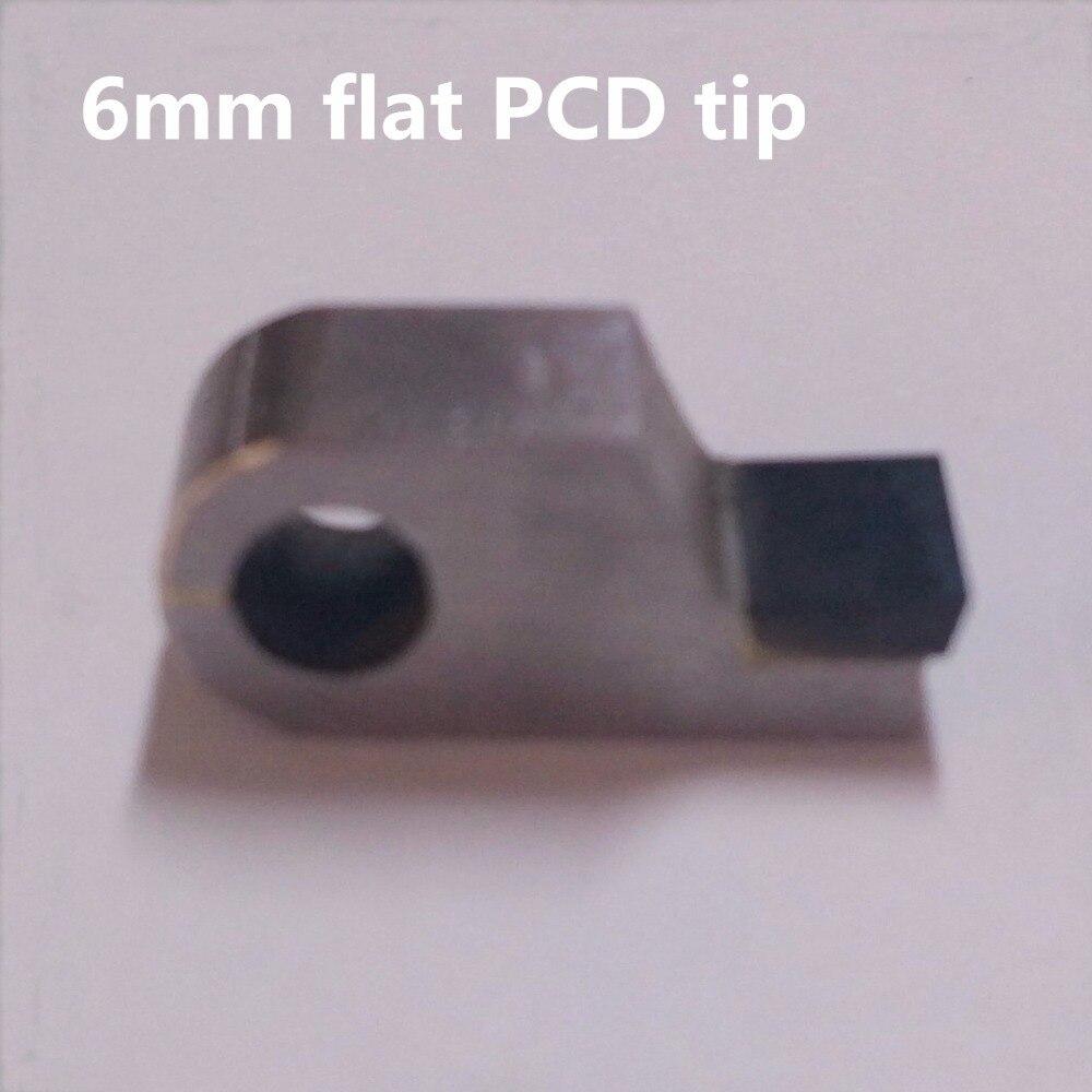 Diamant Posalux outils de coupe 6mm largeur PCD pointe bijoutiers orfèvres outil pour Machine de facettage plat 180 degrés PCD outil de coupe