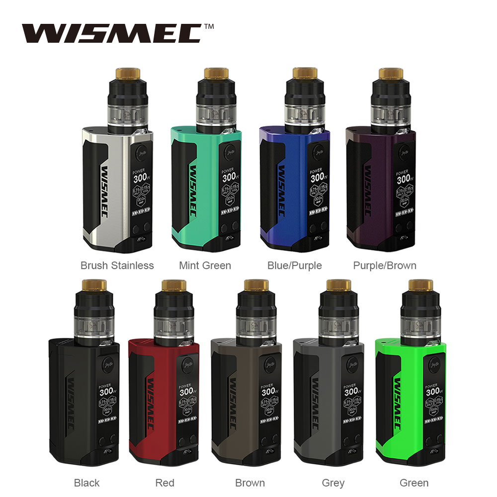 Original WISMEC GEN3 TC Kit Reuleaux RX Gens Box Mod 300W with 2ml Gnome Tank Huge Power No 18650 Battery Vape Vs IStick Pico 25 цена 2017