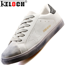 Keloch Spring Summer Men <font><b>Shoes</b></font> White Male Fashion Leather Lace Up Breathable Moccasins Men <font><b>Shoes</b></font> Stan Flats Herren Schuhe