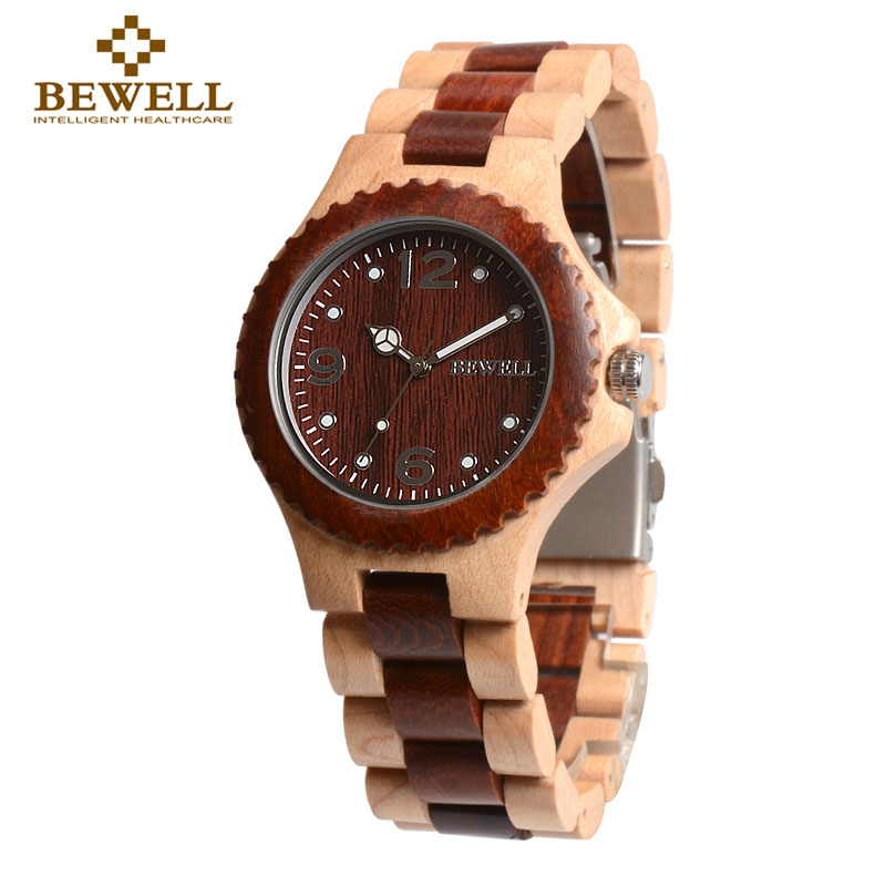 Us 25 9 31 Off Bewell Women S Men S Watches Luxury Watches Quartz Movement Wood Handmade Watches Couple Objects Black Friday Brand New 038a In