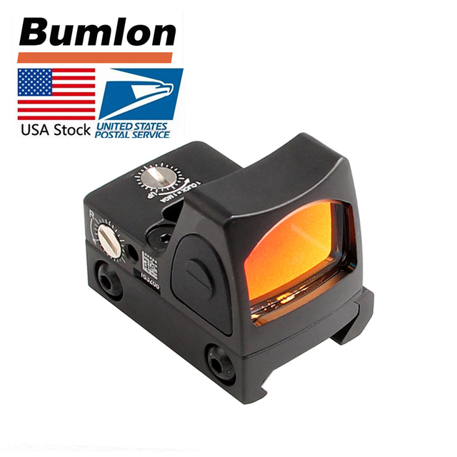 Adjustable RMR Reflex Red Dot Sight 3.25 MOA Scope for Glock Hunting Airsoft Fit 20mm Pictinny Rail with On/off Button Markings