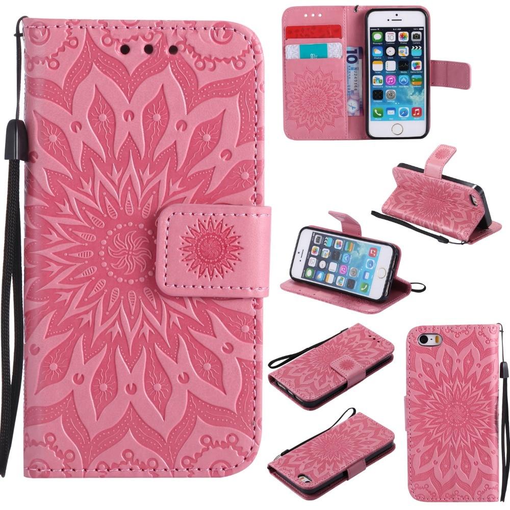 Mutil Fonction Portefeuille Cas pour coque iPhone SE Cas pour coque iPhone 5S 5 Couverture Porte