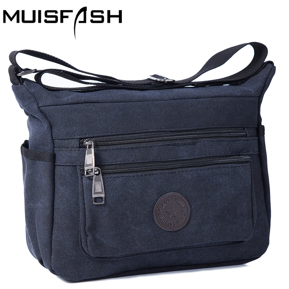 Bolsa Estilo Satchel : Canvas men messenger bags women crossbody small sacoche