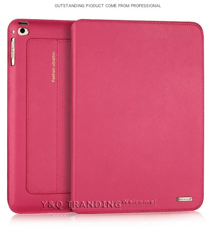 Ultrathin Cowhide Genuine Leather Case for Apple iPad Real Leather Business Stand Smart Cover for iPad  (5)