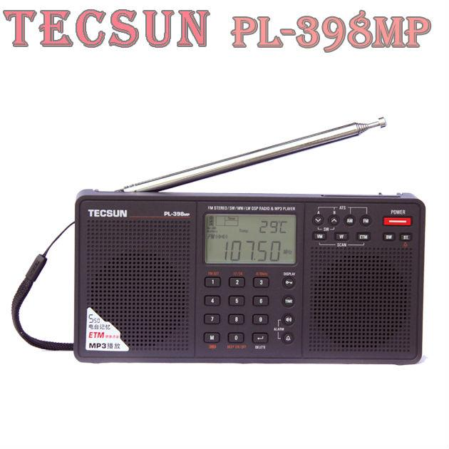 100 Original Tecsun PL 398MP 2 2 Full Band Digital Tuning Stereo Radio Receiver MP3 Player