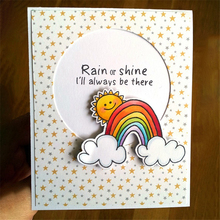 YaMinSanNiO Rain Shine Die Stamp Sets Clear and Dies for Card Making Scrapbooking Album Embossing Paper Craft Stamps