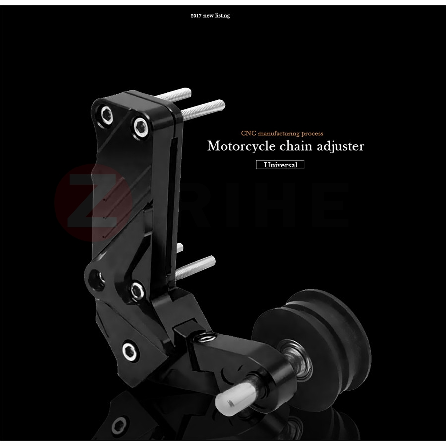 Universal Motorcycle Rear Axle Spindle Chain Adjuster Blocks chain adjuster tensioners For mt07 yamaha r6 cafe racer kawasaki er