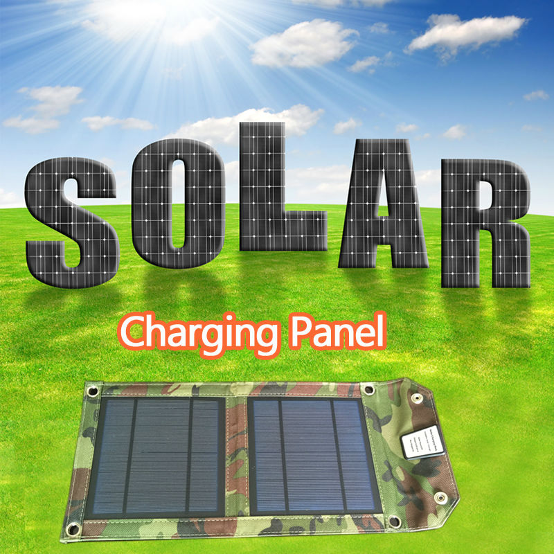 Solar Charger 5W SunPower Solar Panel with SolarIQ Technology Single USB Port for iPhone, ipad, iPods, Samsung, Android Tablets