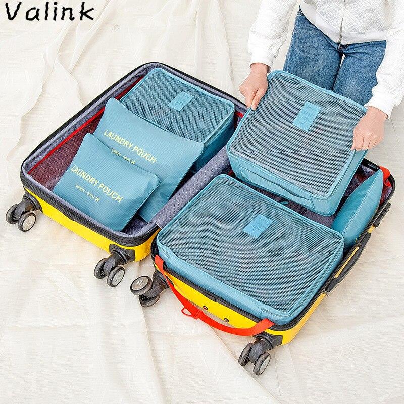 100% Wahr 6 Teile/satz Nylon Verpackung Cube Reisetasche System Durable Große Kapazität Von Unisex Kleidung Sortierung Organizer Tasche Zipper Organizador Einfach Zu Schmieren