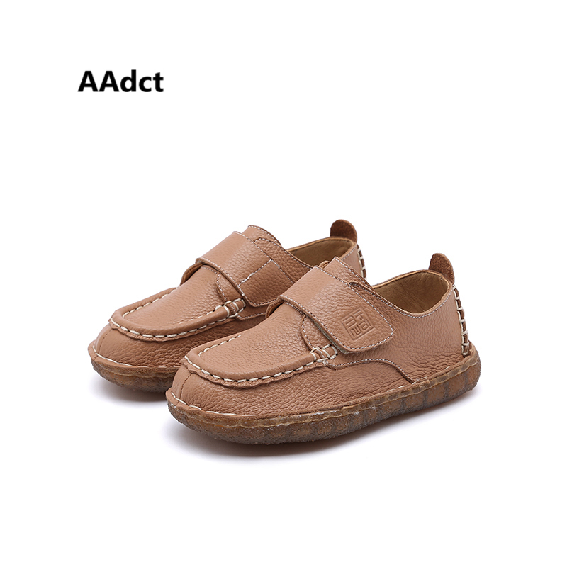 AAdct New Fashionable Soft leather boys shoes Comfortable Children shoes for girls Personalities High quality kids shoes