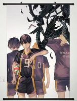 Home Decor Anime Haikyuu Wall Scroll Poster Fabric Painting Key Roles 055