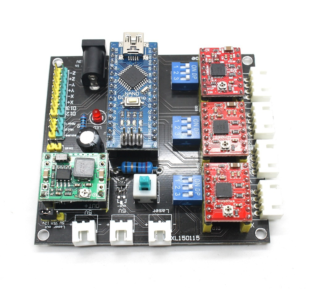 Board Cnc Router Wiring Moreover Arduino Cnc Stepper Motor Control