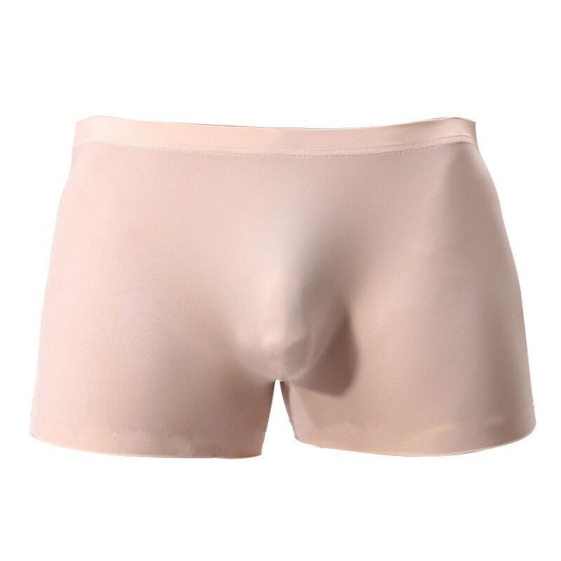 Men Underwear Boxers High Elastic Convex Seamless Silk Waist Slim Male Underpant