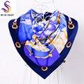 Marca Sarga de Seda Plaza Bufandas Nueva Accesorios de Moda Femenina Azul Púrpura Turquía Mujeres Cabeza Bufanda Del Otoño Del Resorte Satén Bufanda