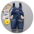 Sling/Jeans/meninos e meninas na moda 1-3 anos de idade meninos e meninas vestindo calça jeans de lavagem de luz elegante água