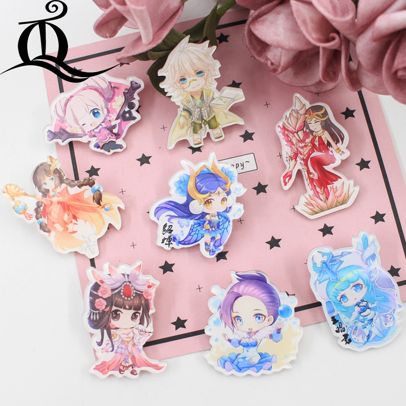 Badges Generous Fashion Lol 1 Pcs Painting Cartoon Mix Skeleton For Clothing Acrylic Badges Kawaii Icons On The Backpack Pin Brooch Badge Z25