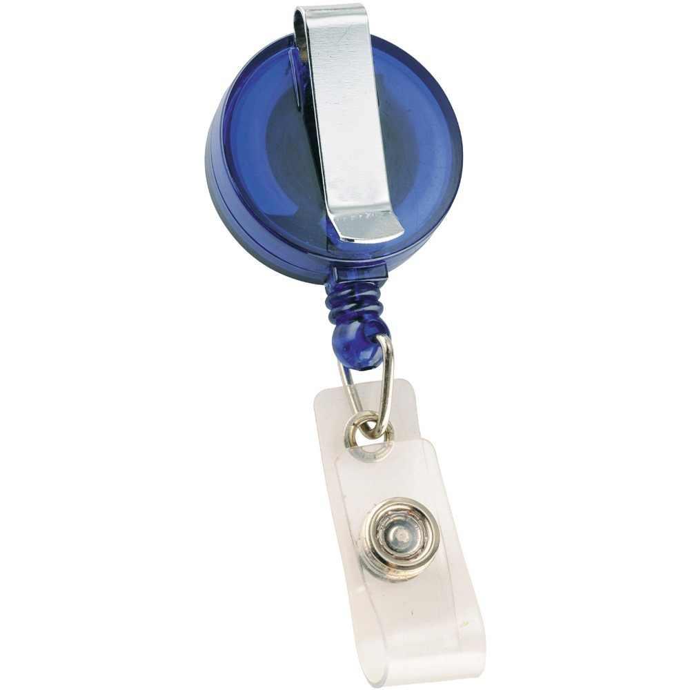 Titular crachá de IDENTIFICAÇÃO carretel retrátil azul clipe, cinturão de volta clipe, estender cabo de nylon, enfermeira do hospital, empregado de escritório, a favor da mostra de comércio