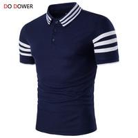 Do dower brand New FashionMen polo shirt Short Sleeve Slim Fit Shirt Men Cotton polo ralphmen Casual Camisa Polo shirt size XXL