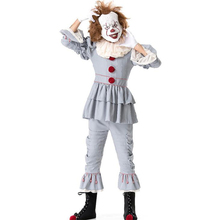 Deluxe Men Clown Costume Halloween Party Adult Cosplay Clothing цена