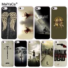 MaiYaCa The Walking Dead Cool Phone Accessories Case for Apple iPhone 8 7 6 6S Plus X 5 5S SE XR XS XS MAX Mobile Cases(China)