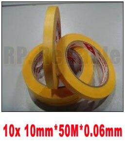 10x 10 мм * 50 М Высокая Термостойкость Клей Клейкая Лента 3M244 для Проведения Расслоение Печать и Краски маскировки