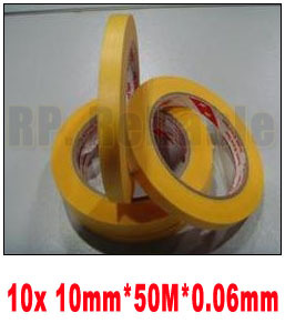 10x 10mm*50M High Temperature Resistant Adhesive Masking Tape 3M244 for Hold Bundle Seal and Paint masking kitcyo543115042mmm2342 value kit scotch general purpose masking tape 234 mmm2342 and crayola artista ii washable tempera paint cyo543115042