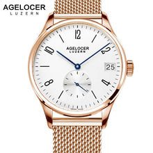 Man Watches 2017 Swiss Brand Mechanical Men Watch Big Date Display Visible Case Back Gold Watch