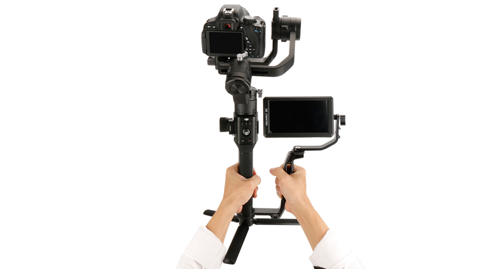 Gimbal Accessories L Bracket Stand Handle Grip with Hot Shoe 1/4'' Screw for Zhiyun Crane 2 DJI Ronin S Weebill LAB Stabilizer 14