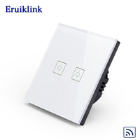 Smart Home Light Switch EU Standard Luxury White Crystal Glass Wall Switch Remote Touch Switch Touch