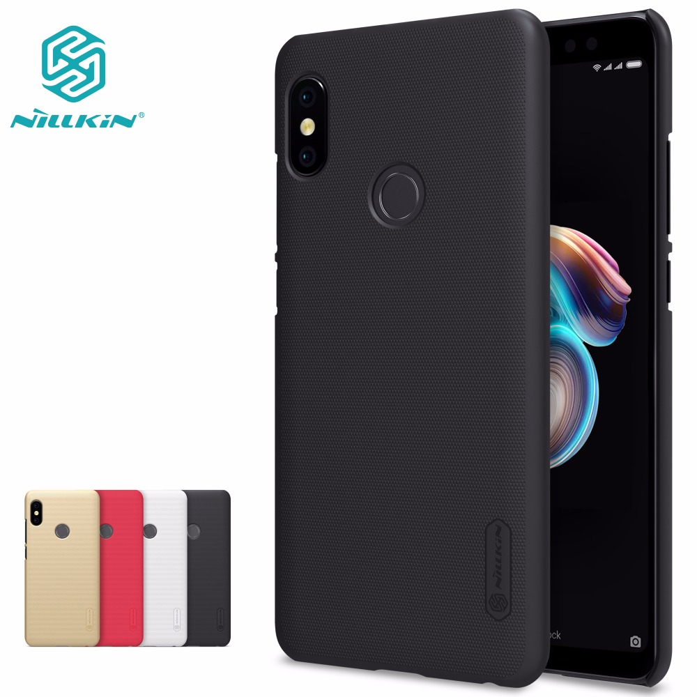 Xiaomi redmi nota 5 Caso redmi note 5 pro prime caso NILLKIN Super Frosted Shield duro opaco della copertura posteriore + protezione libera dello schermo