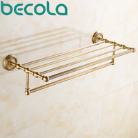 Free Shipping Antique Brass bath towel holder towel rack Bathroom accessories towel bars GZ 9011