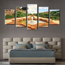 5 Pieces Fountain Modern Home Decoration Wall Art Painting Print on Canvas HD Print for Living Room Decor Wholesale Dropshipping
