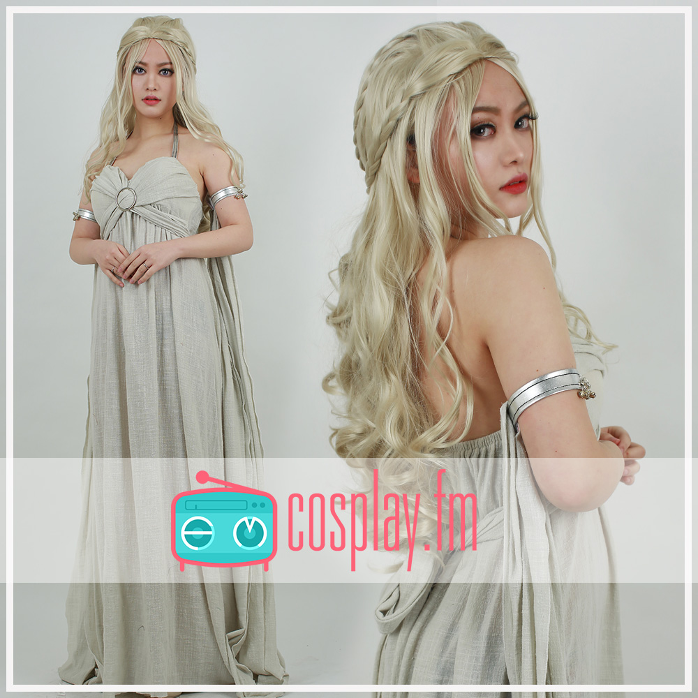 цены на Game of Thrones A Song of Ice And Fire Daenerys Targaryen Cosplay Grey Long Dress