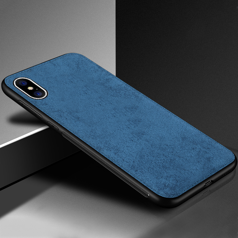 IIOZO Magnetic Cloth Case For iPhone 7 8 Plus 6 6s XS Max XR X Ultra-thin Fabric Cloth Texture Soft Silicone Phone Cases Cover