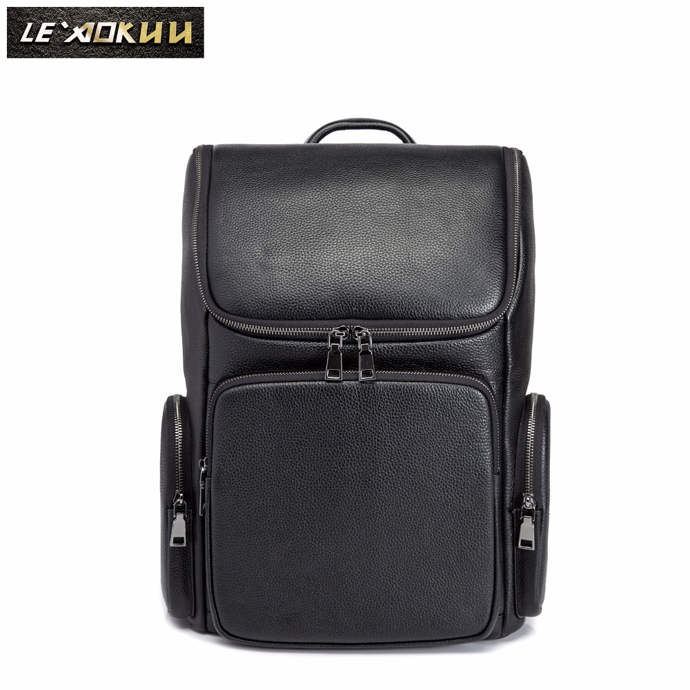 Men Quality Leather Design Casual Travel Bag Male Fashion Backpack Daypack University Student School Book 16 Laptop Bag 419-18Men Quality Leather Design Casual Travel Bag Male Fashion Backpack Daypack University Student School Book 16 Laptop Bag 419-18