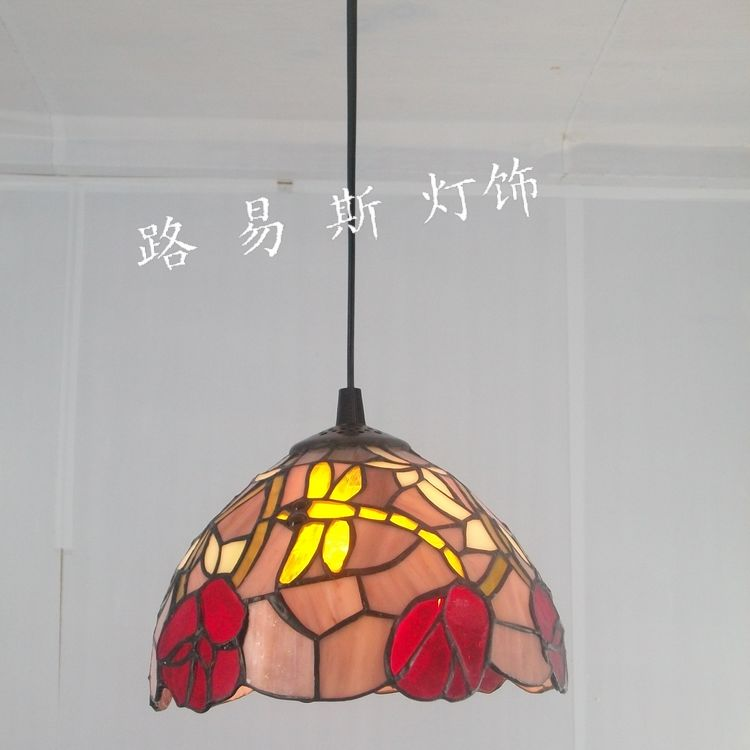 20CM British Dragonfly Tiffany chandelier small bar restaurant windows and lamps lighting authentic European style retro Winery