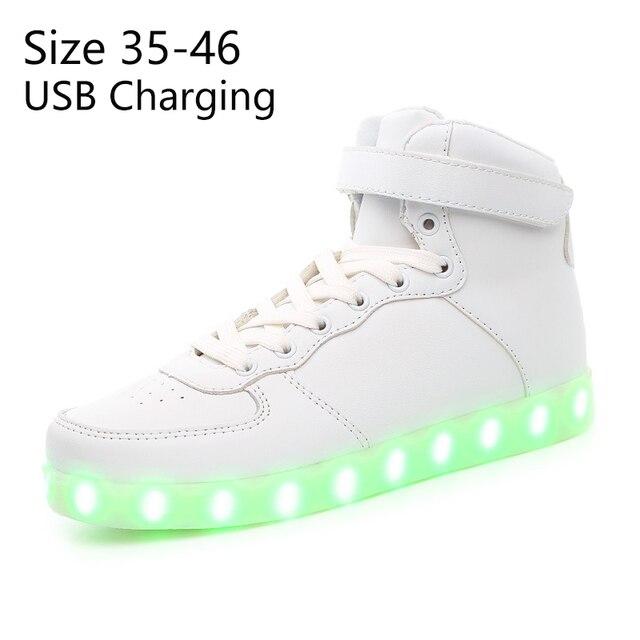 KRIATIV Cestino Usb led bambini accendono pattini Luminosi Scarpe Da  Ginnastica tenis Pantofole fare con Luci d57b2085509