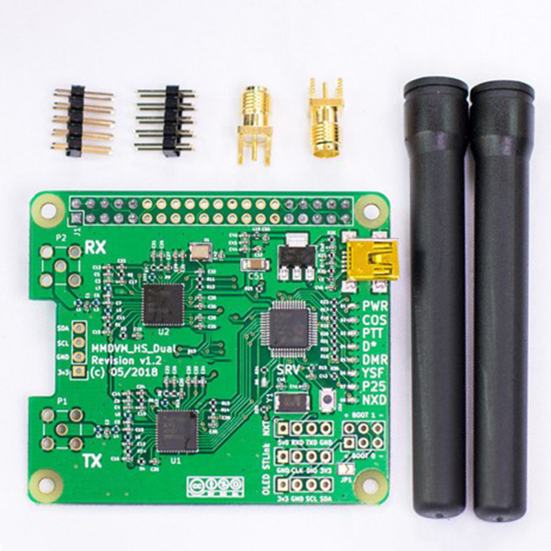 LED display Hotspot Module V1 3 MMDVM HS Dual Hat Duplex W Antenna OLED Support P25 DMR YSF Accessory in Wireless Module from Consumer Electronics