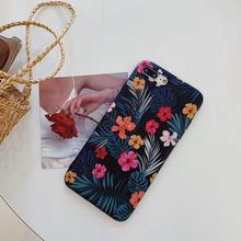 Idyllic Flowers Pattern TPU Phone Case For iPhone X XS XMAX XR IMD Matte Soft Cover For iPhone 6 7 8 6 PLUS 7 PLUS Capa Female